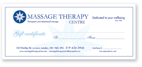 Massage Therapy Centre - Gift Certificates
